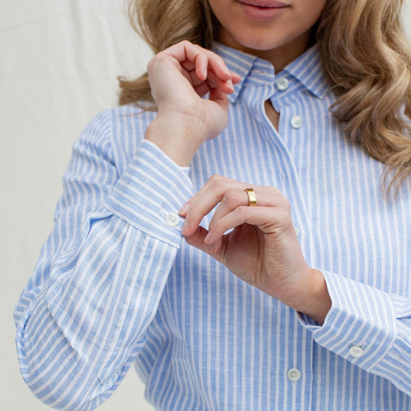 Relaxed Striped Linen Shirt