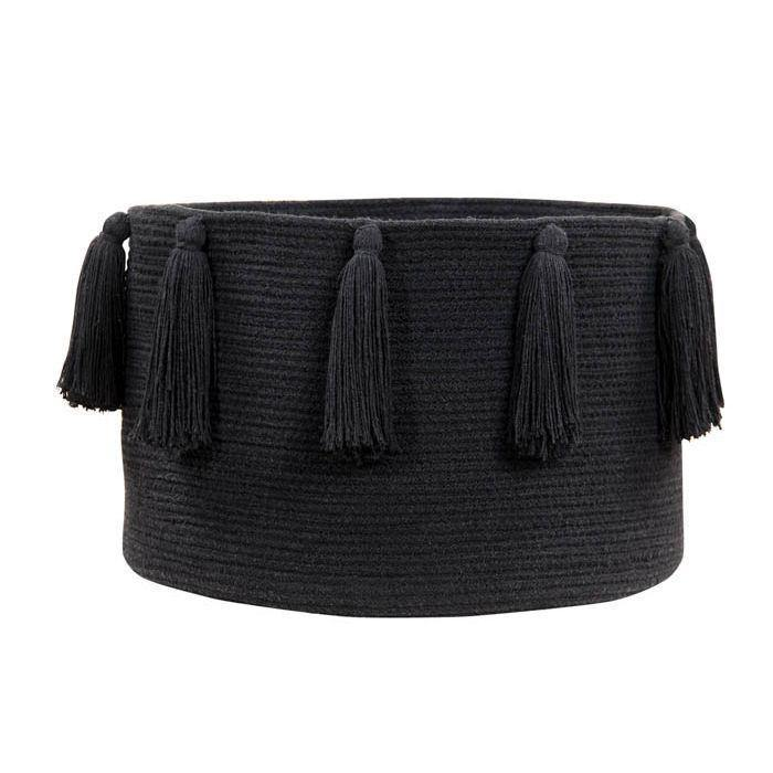 Lorena Canals Basket Tassels Black - Thirty Six Knots