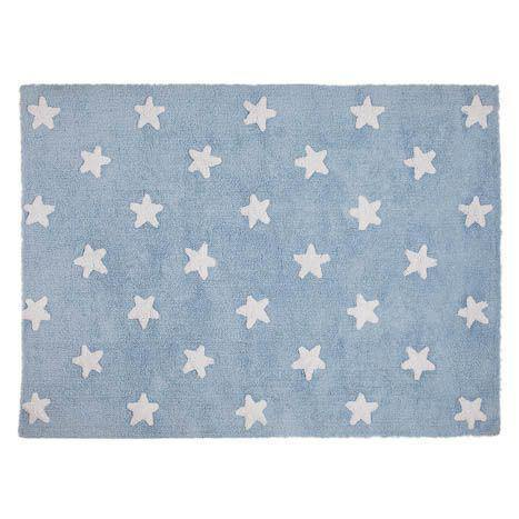 Lorena Canals Stars Rug Blue - White - Thirty Six Knots