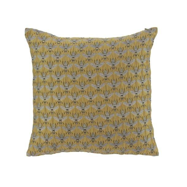 Coussin Abeja Pillow 18 x 18 - Dijon / Grey - Thirty Six Knots