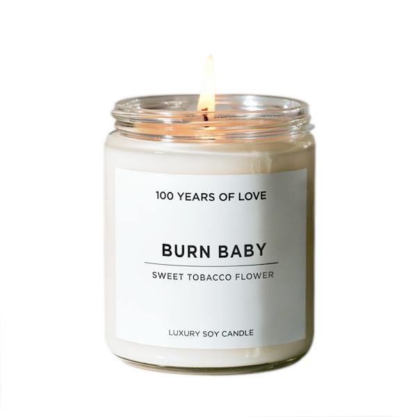 100 Years of Love Burn Baby Candle - Thirty Six Knots