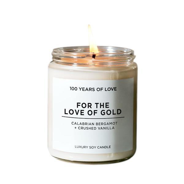 100 Years of Love For the Love of Gold Candle - Thirty Six Knots