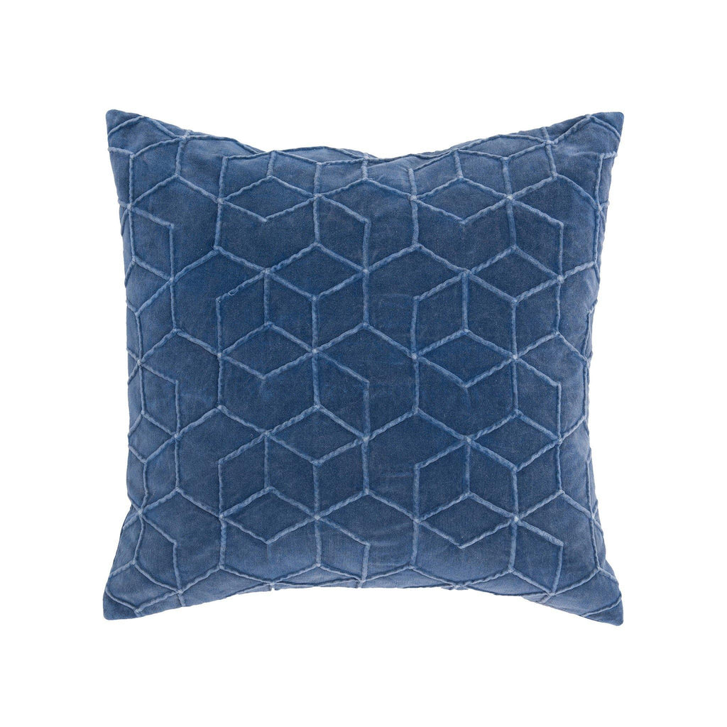 Pillow Prato 20 x 20 - Blue Velvet - Thirty Six Knots