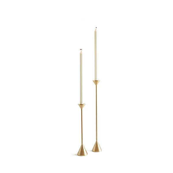 Brass Cone Spindle Candle Holder - Thirty Six Knots
