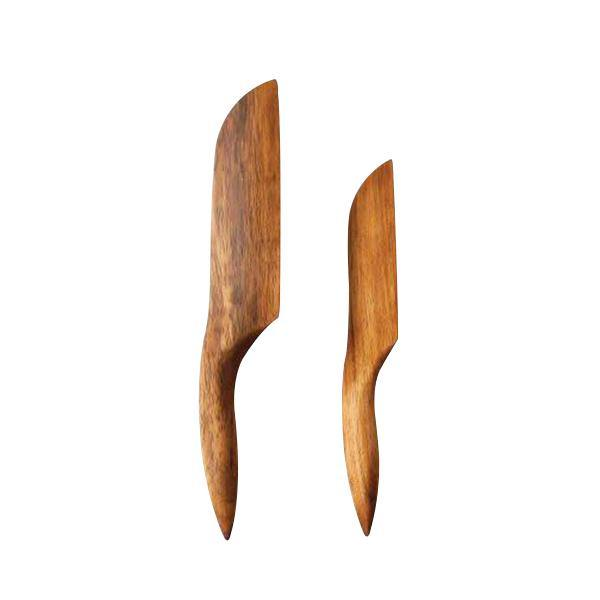 Carved Knives - Set of 2 - Thirty Six Knots