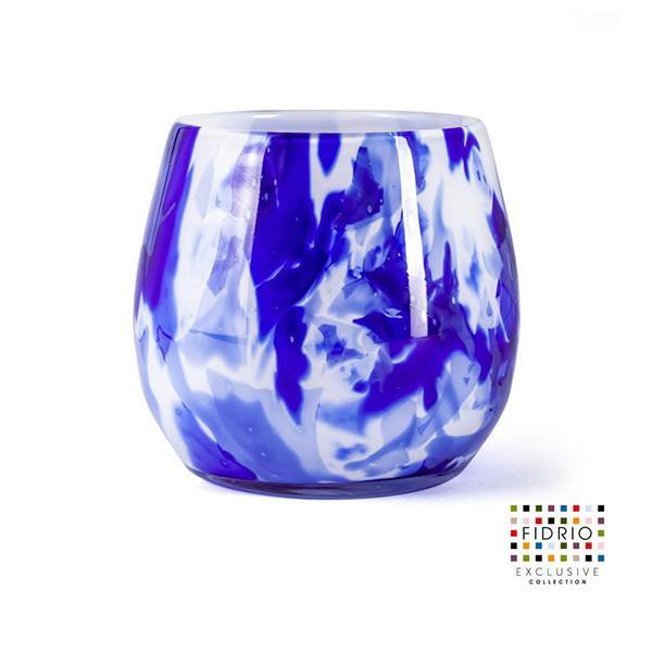 Fidrio Delfts Blue Fiore Glass Vase - Thirty Six Knots