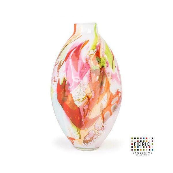 Fidrio Mixed Colours Bottle Mio Glass Vase - Thirty Six Knots - thirtysixknots.com