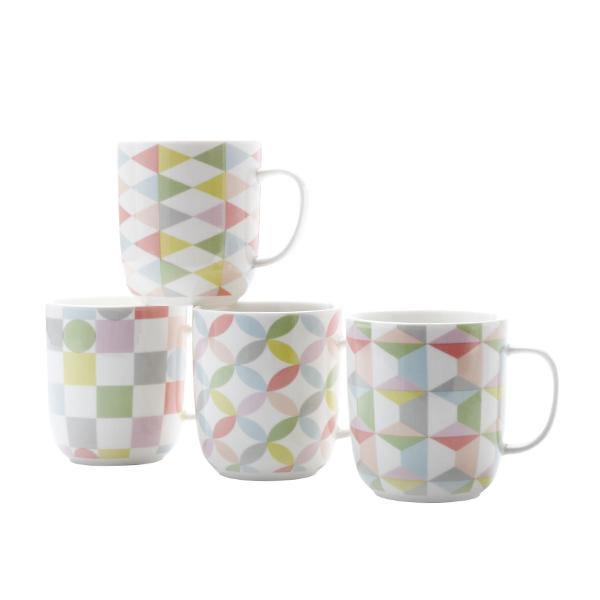 Geoclectic Mugs - Set of 4 - Thirty Six Knots