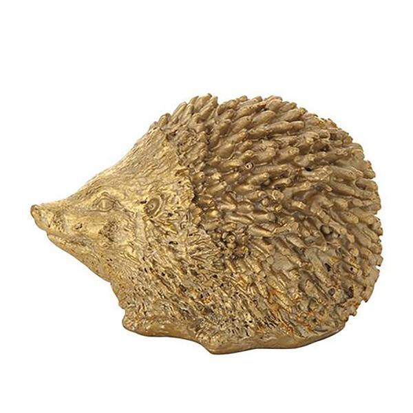 Gold Resin Hedgehog Statue - Thirty Six Knots