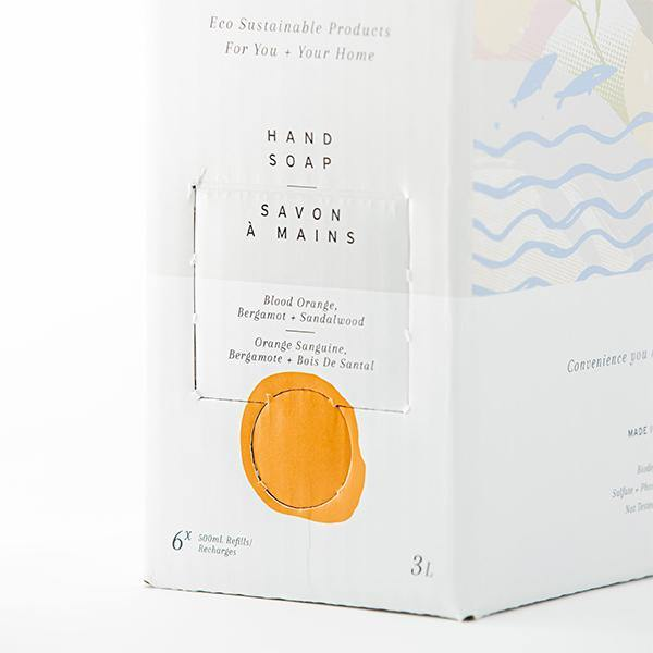 Hand Soap 3L Refill Box - Blood Orange, Bergamot, and Sandalwood - The Bare Home - Thirty Six Knots - thirtysixknots.com