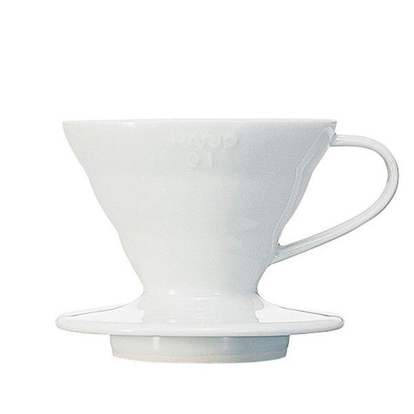 Hario V60-02 White Ceramic Pour Over Dripper - Thirty Six Knots