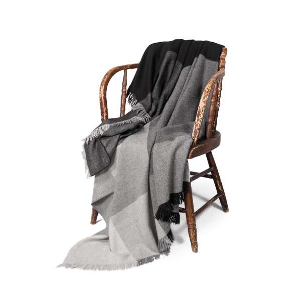 Latierra Camino Plaid Throw - Black - Thirty Six Knots