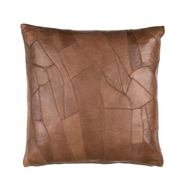 Leather Kiran Cushion Brown - Thirty Six Knots
