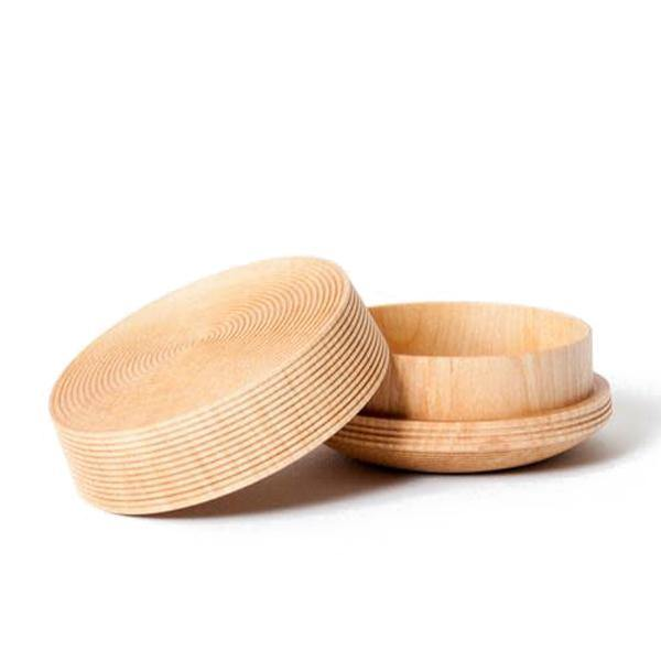 Morihata Karmi Wooden Tea Canister, Za Soji (Natural) - Thirty Six Knots