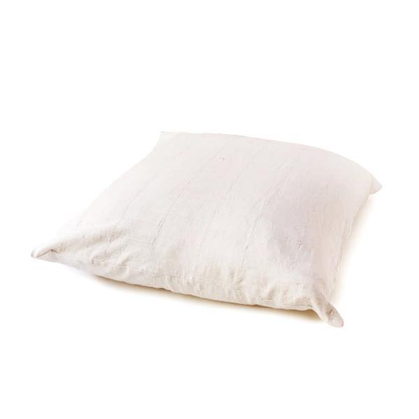 Mudcloth Floor Pillow - White - Thirty Six Knots