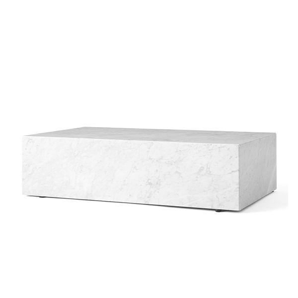 Plinth Low, White Marble - Thirty Six Knots