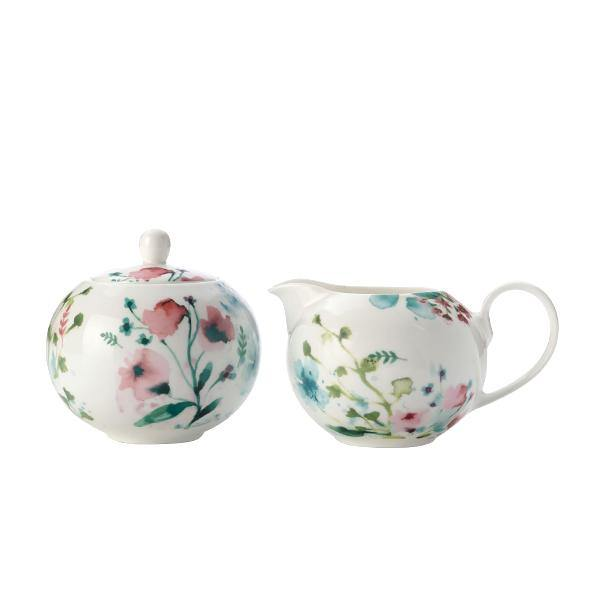 Primavera Porcelain Cream & Sugar Set - Thirty Six Knots