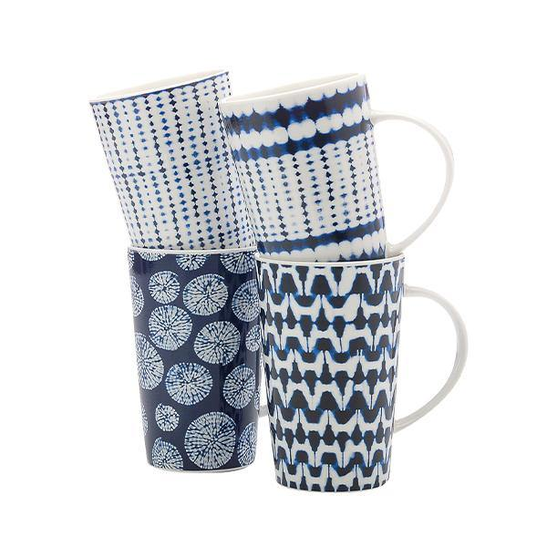 Shibori Mugs - Set of 4 - Thirty Six Knots