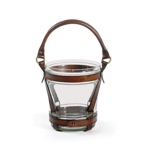 Wesley Leather and Glass Wine Cooler - Thirty Six Knots