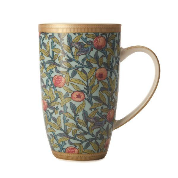 William Morris Coupe Mug - Pomegranate - Thirty Six Knots