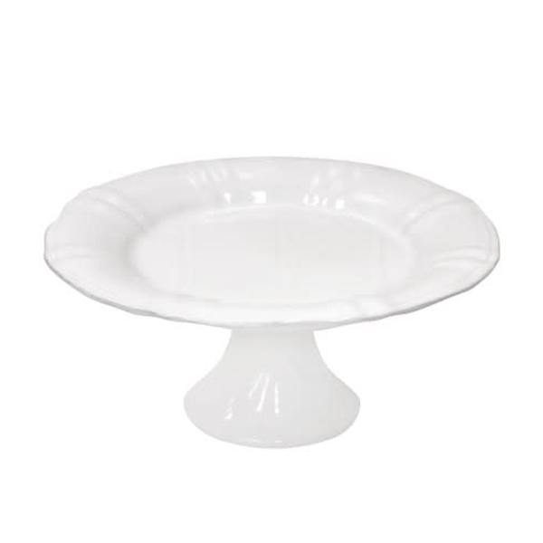 Costa Nova Village Collection White Footed Plate - Thirty Six Knots