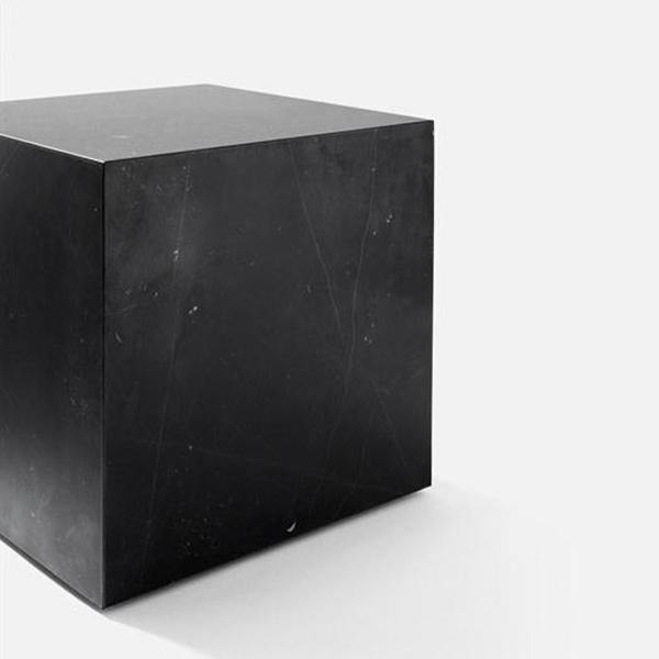Cubic Plinth, Black Marble - Thirty Six Knots