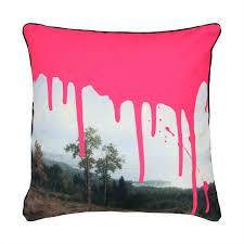 Artistic Pink Cushion - Thirty Six Knots - thirtysixknots.com