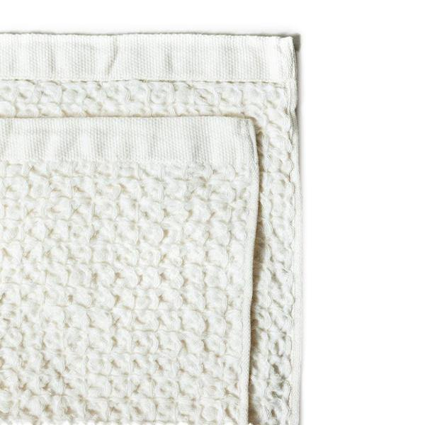 Lattice Linen Towel Ivory Washcloth (S) - Thirty Six Knots - thirtysixknots.com