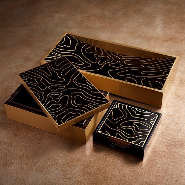 L'Objet Ebony Isles Coasters - Set of 4 - Thirty Six Knots