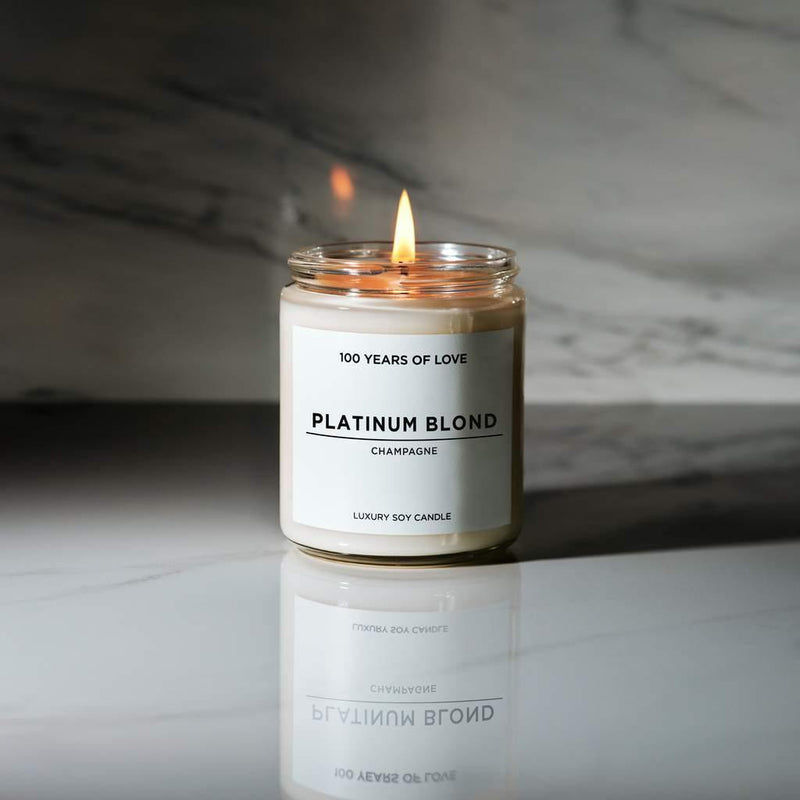 100 Years of Love Platinum Blond Candle - Thirty Six Knots