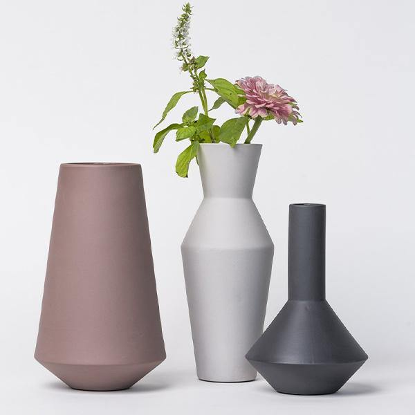 Ferm Living Sculpt Pod Ceramic Vase - Thirty Six Knots