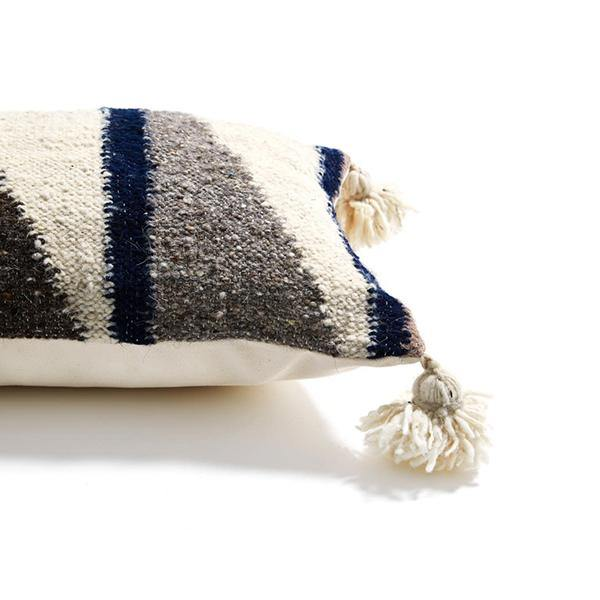 Wool Diagonal Pillow Light - Thirty Six Knots