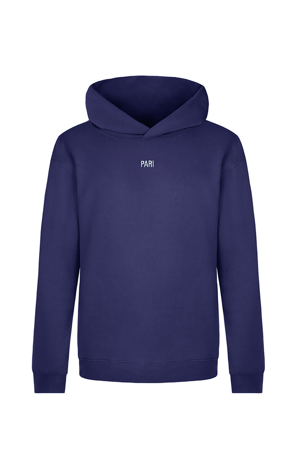 NAVY SPORTS CLUB HOODIE PARI