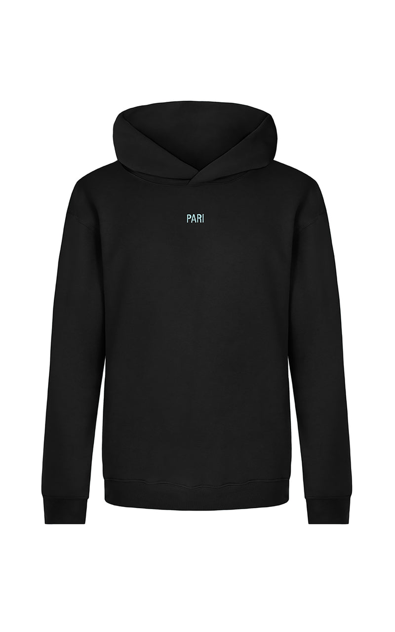 BLACK SPORTS CLUB HOODIE PARI