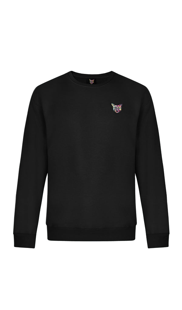 BLACK SPORTS CLUB SWEATSHIRT CAT