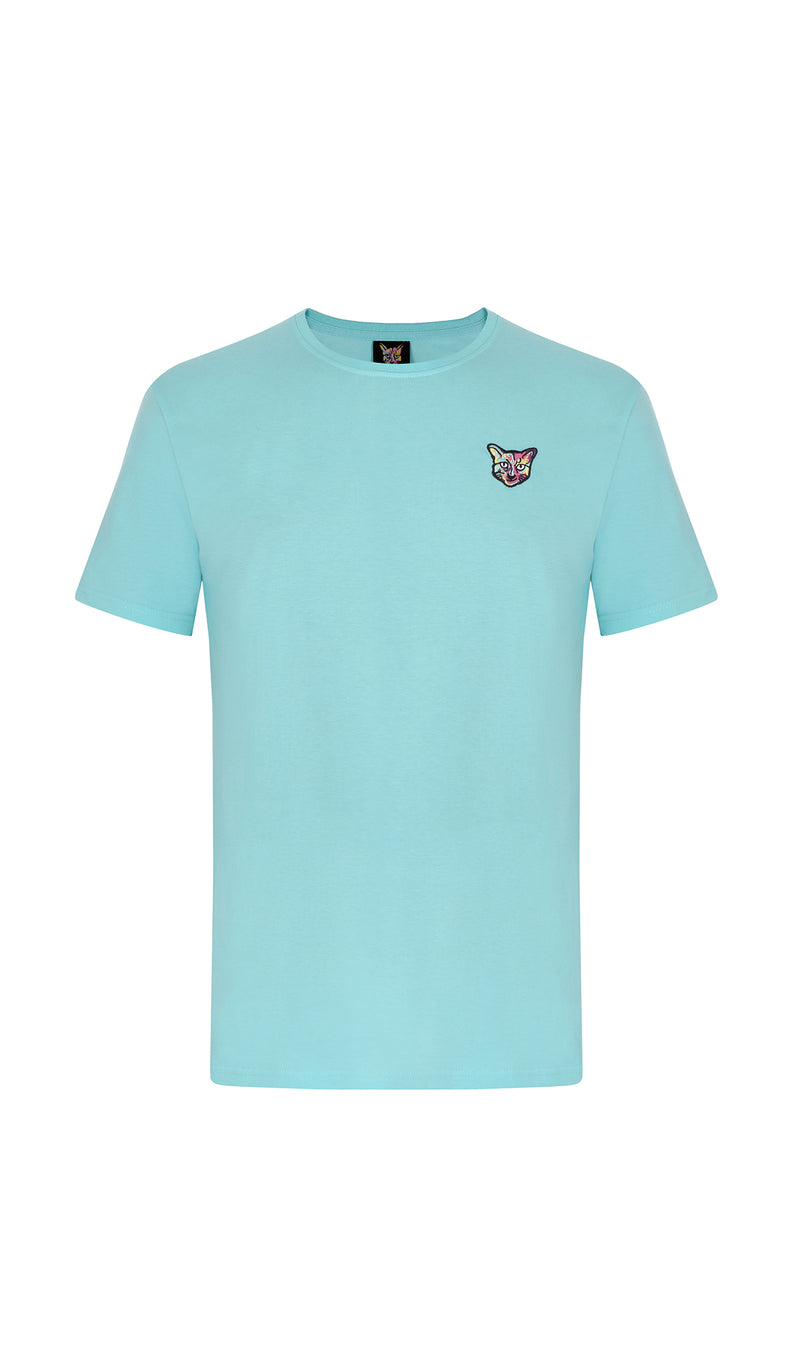 TURQUOISE SPORTS CLUB T-SHIRT CAT