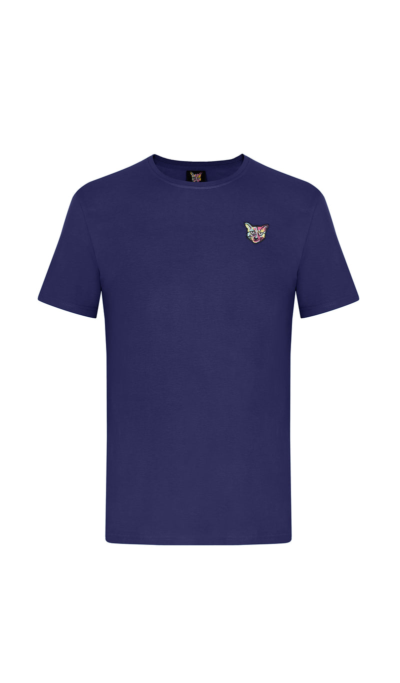 NAVY SPORTS CLUB T-SHIRT CAT