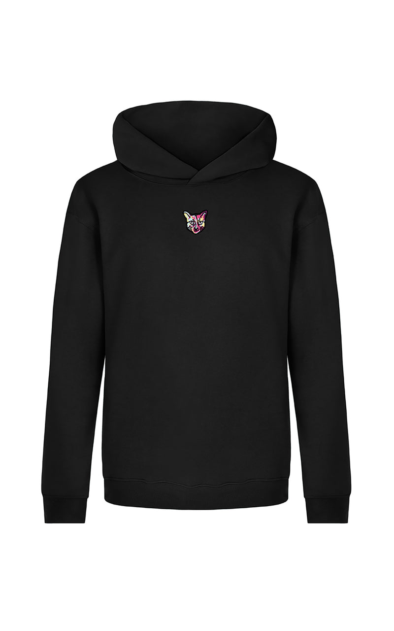 BLACK SPORTS CLUB HOODIE CAT