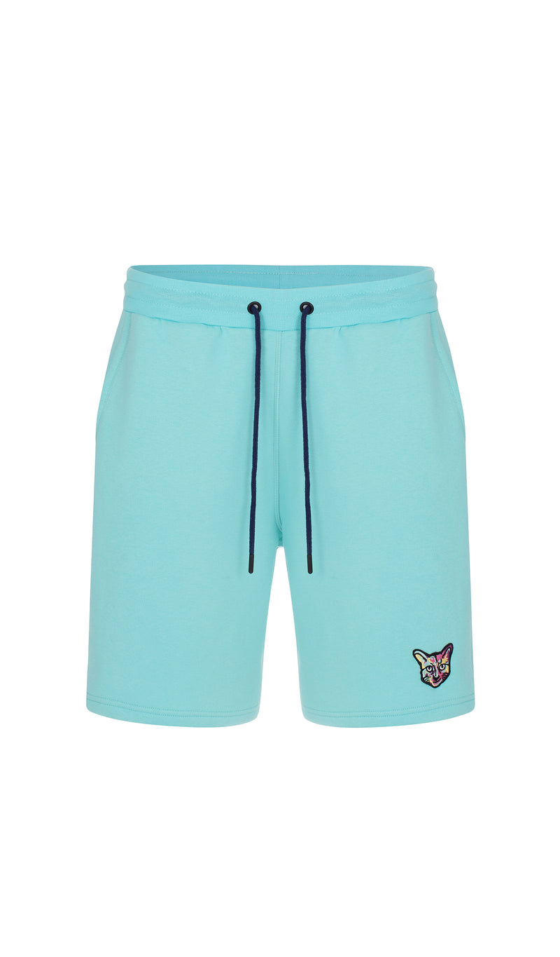 TURQUOISE SPORTS CLUB SHORTS CAT