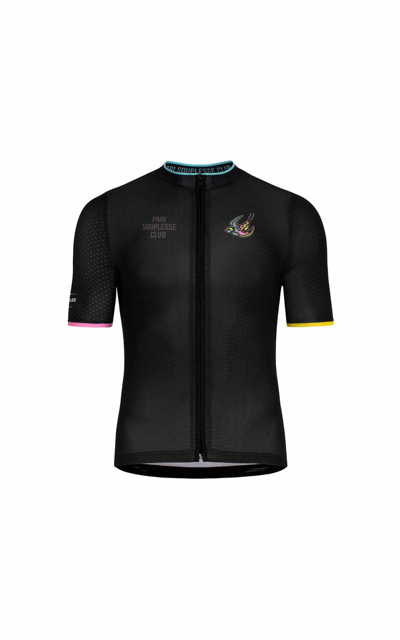 BLACK SOUPLESSE CLUB CYCLING JERSEY - true to size