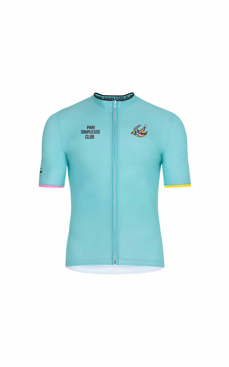 TURQUOISE SOUPLESSE CLUB CYCLING JERSEY - true to size