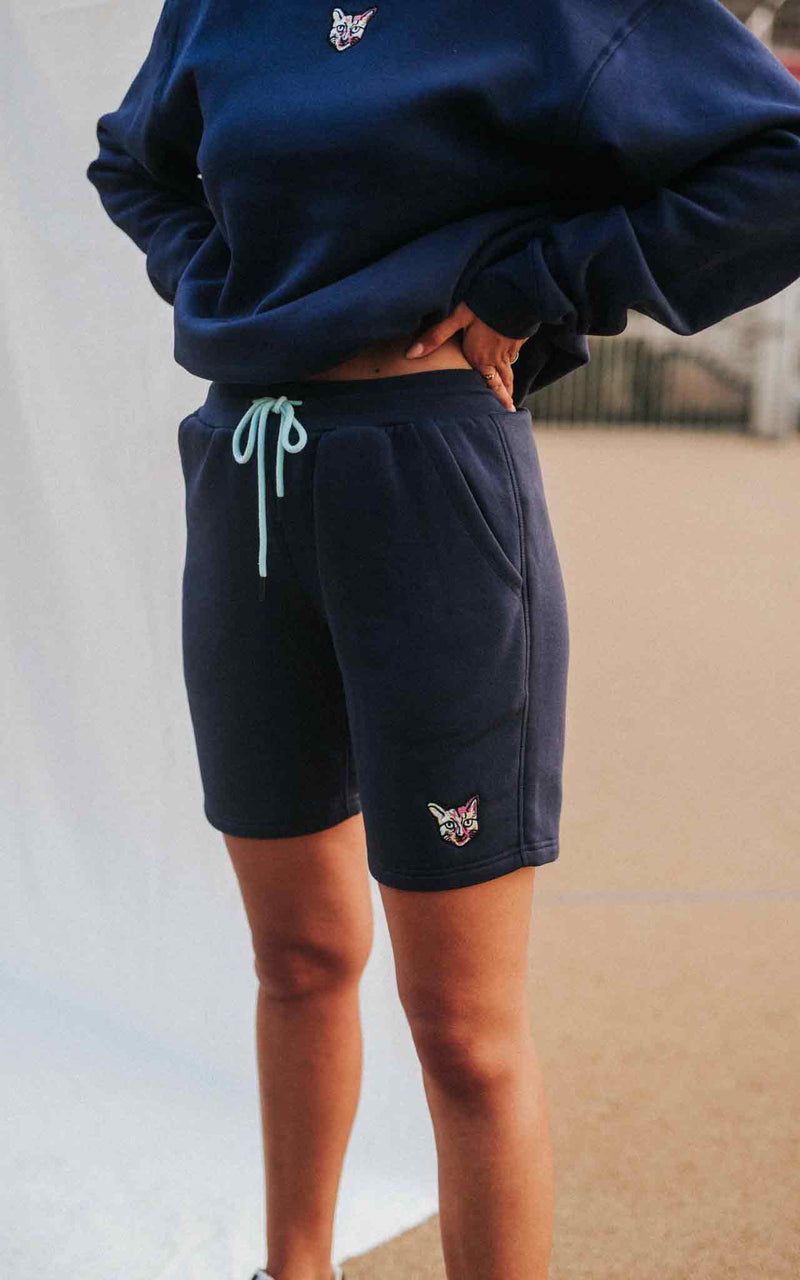 NAVY SPORTS CLUB SHORTS CAT
