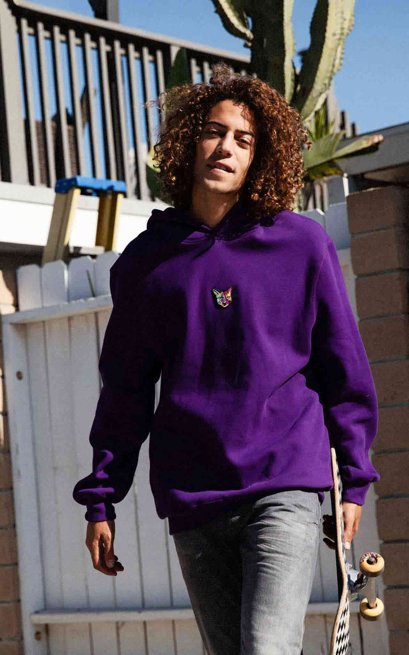 PLUM LONGSLEEVE RUBBER CAT