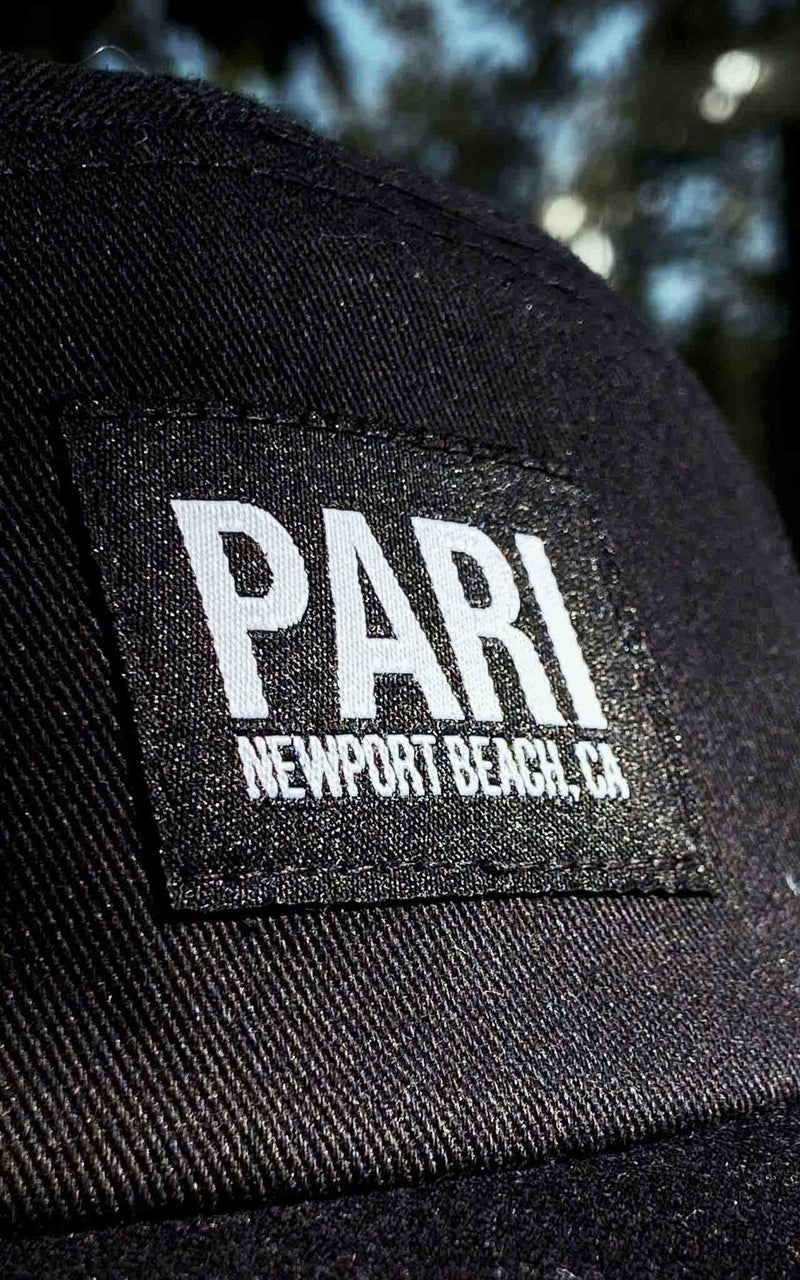 BLACK FIVE PANEL CAP PARI NEWPORT BEACH