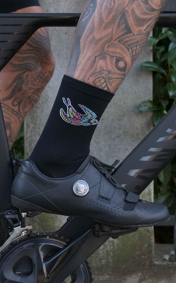 BLACK SOUPLESSE CLUB CYCLING SOCKS