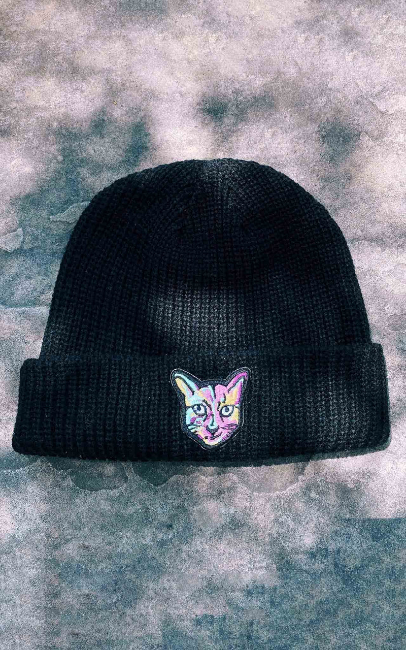 BLACK BEANIE CAT
