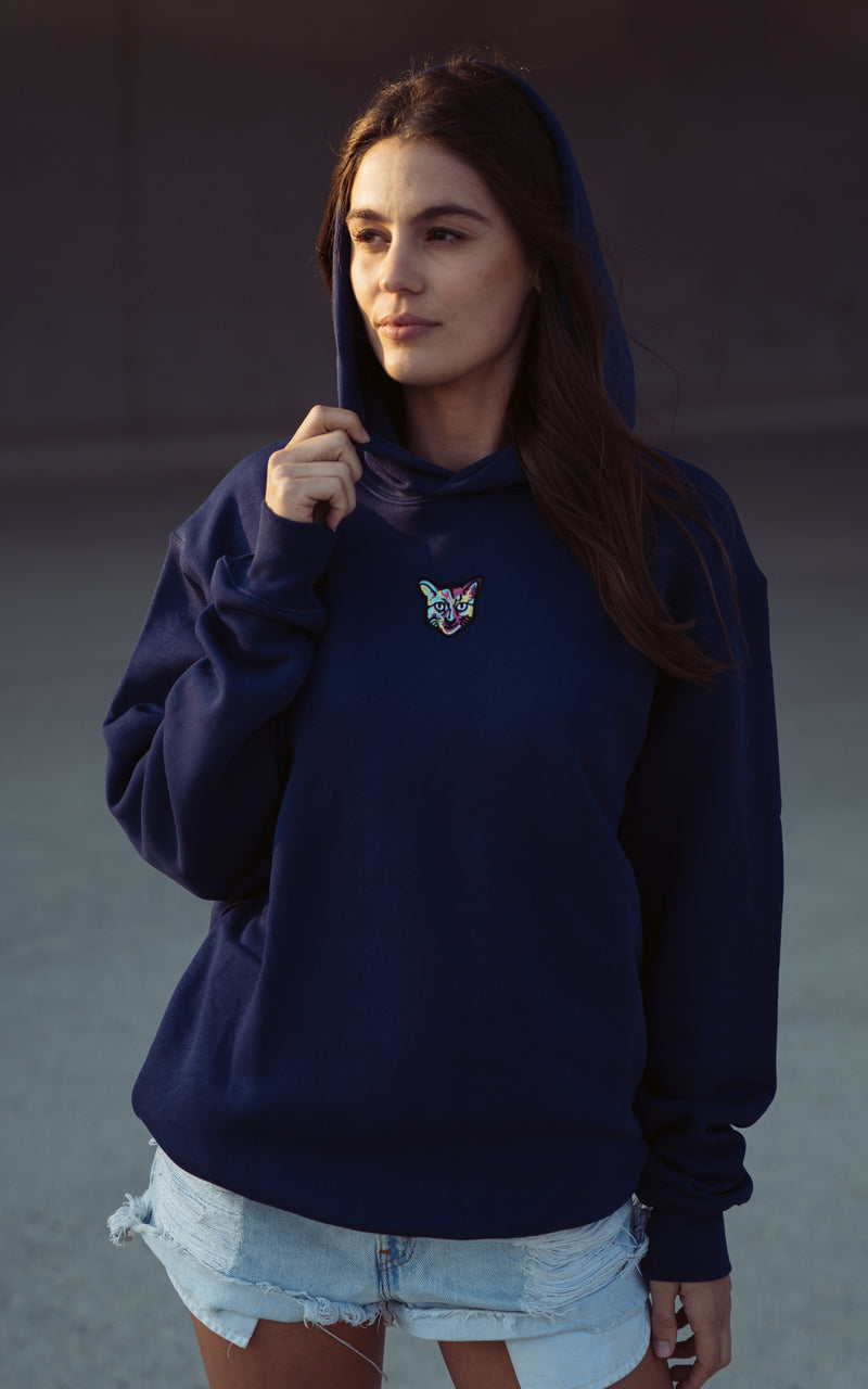 NAVY SPORTS CLUB HOODIE CAT