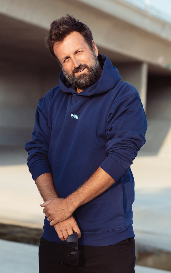 NAVY SPORTS CLUB HOODIE PARI - APP