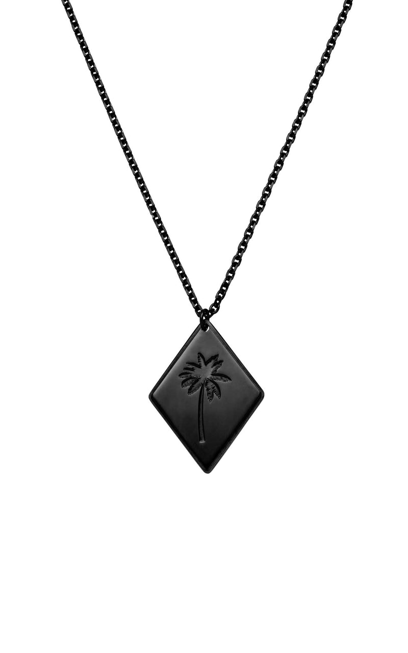BLACK PURELEI X PARI NECKLACE PALM TREE