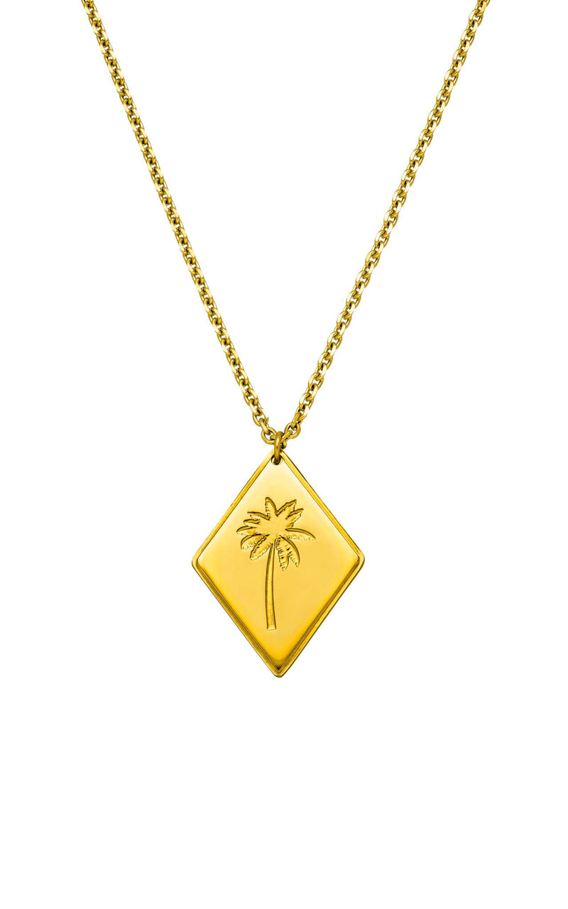 GOLD PURELEI X PARI NECKLACE PALM TREE